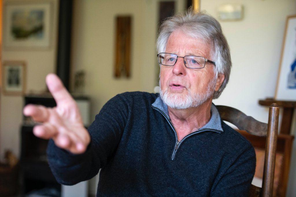 Photo du théologien Daniel Marguerat, prise à l'occasion d'une interview à Lausanne, le 7 mai 2019