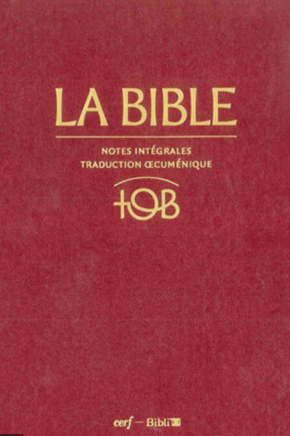 Page de couverture de la Traduction œcuménique de la Bible, 3e édition (version intégrale)